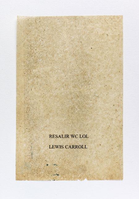 Caroll. Anagramme, papier de soie. Photographie: Jacky Lecouturier