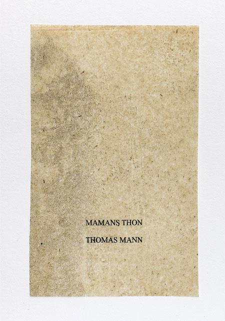 Mann. Anagramme, papier de soie. Photographie: Jacky Lecouturier