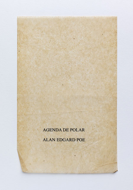 Poe. Anagramme, papier de soie. Photographie: Jacky Lecouturier