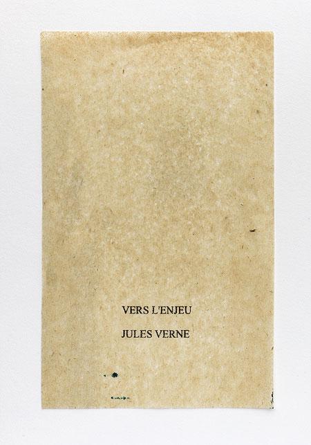 Verne. Anagramme, papier de soie. Photographie: Jacky Lecouturier