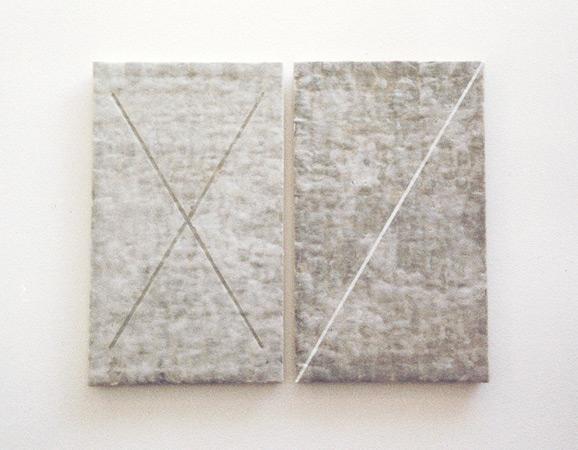 Héraldique. Acrylique, acide. Atelier 2000. Photographie: Emmanuel Dundic