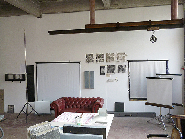 Atelier rue Fond-Pirette, 2012. Photographie: Emmanuel Dundic